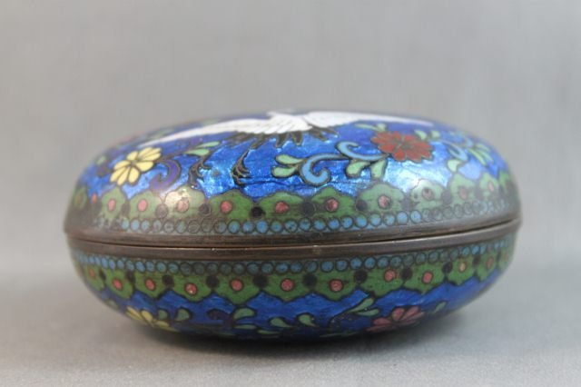 77: Japanese Meiji Period Cloisonne Box and Cover,