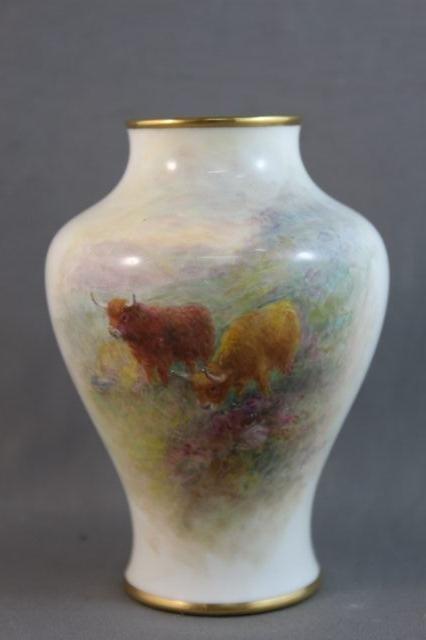 82: Royal Worcester Porcelain Vase,