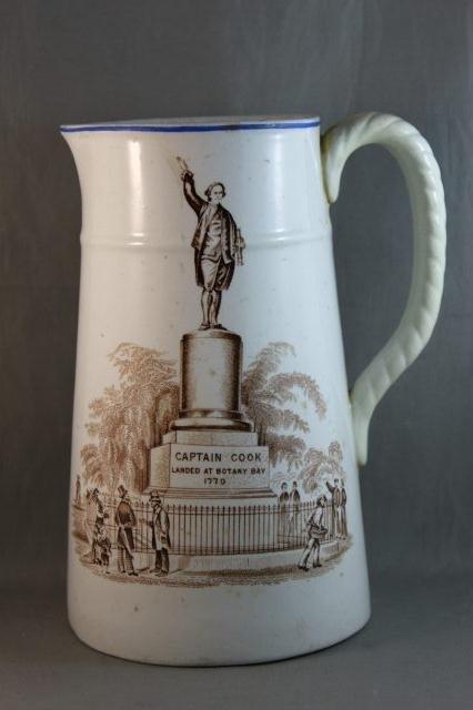 83: Rare Captain Cook Porcelain Jug,