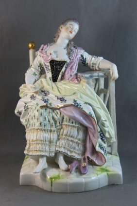 Good Large Meissen Porcelain Figure,