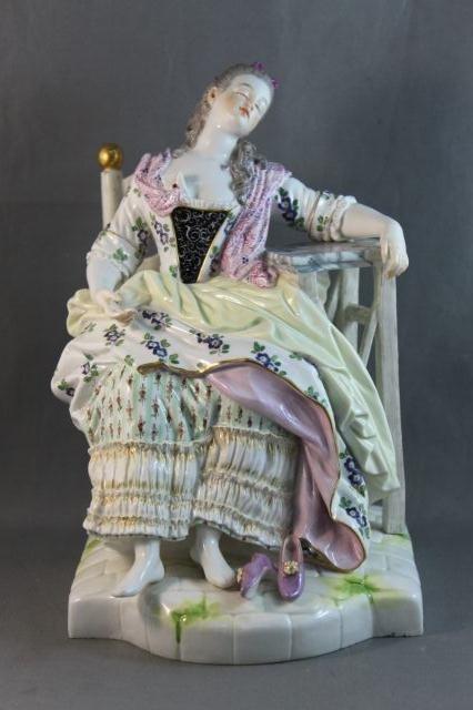 90: Good Large Meissen Porcelain Figure,