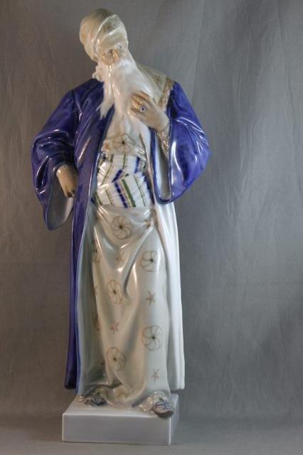 """91: Large Royal Copenhagen Porcelain Figure """"Moses"""","""