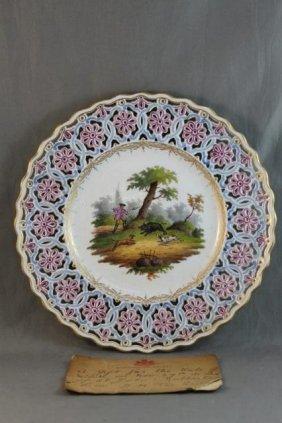 Meissen Porcelain Cabinet Plate,
