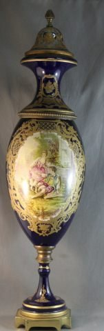111: French 19th Century Porcelain Urn and Cover,