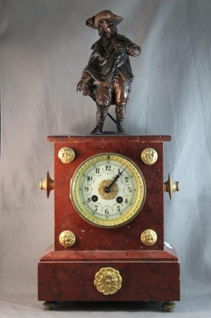 113: French Marble Clock,