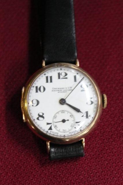 75A: Rose Gold Wristwatch, c 1920,