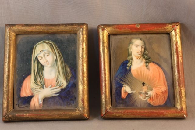 25: Pair of 19th Century Portrait Miniatures on Ivory