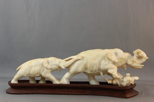 12: Japanese Meiji Ivory Figure Group,