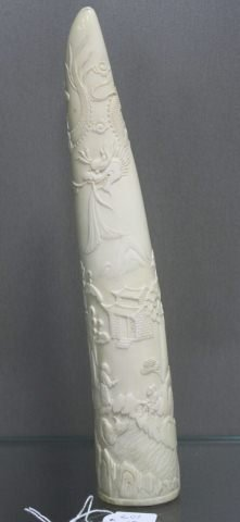 15: Chinese Carved Ivory Tusk,