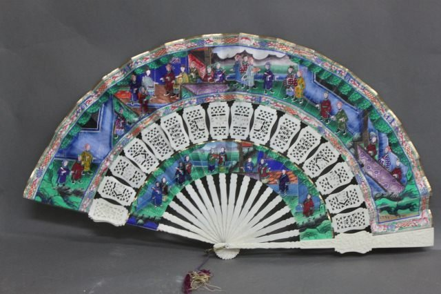 19: Stunning Chinese Qing Dynasty, 19th Century Fan