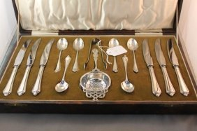Beautiful Boxed Sterling Silver Cutlery