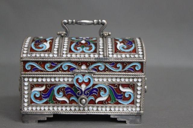 17: Beautiful Russian Silver and Enamel Jewellery