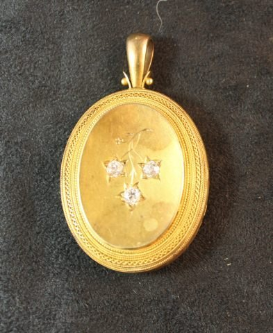 156: 19th Century Diamond Set Locket,