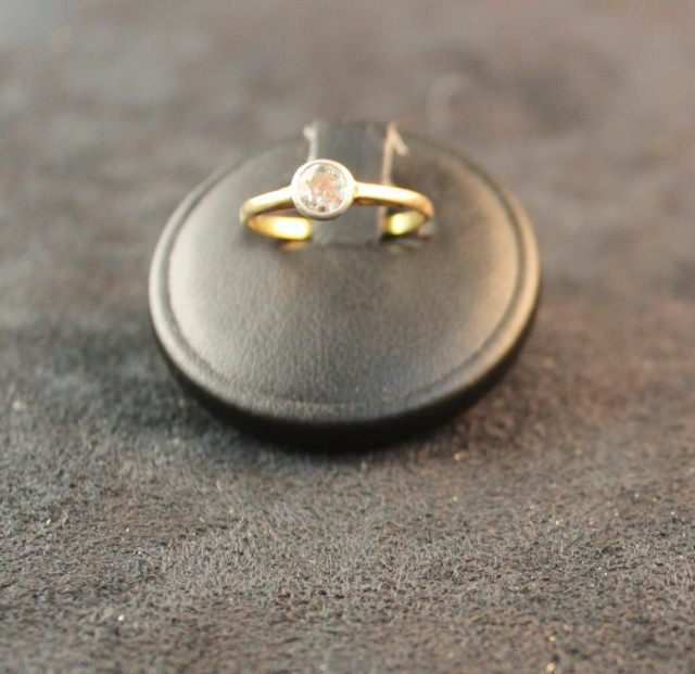 159: Old Cut Solitaire Diamond Ladies Ring