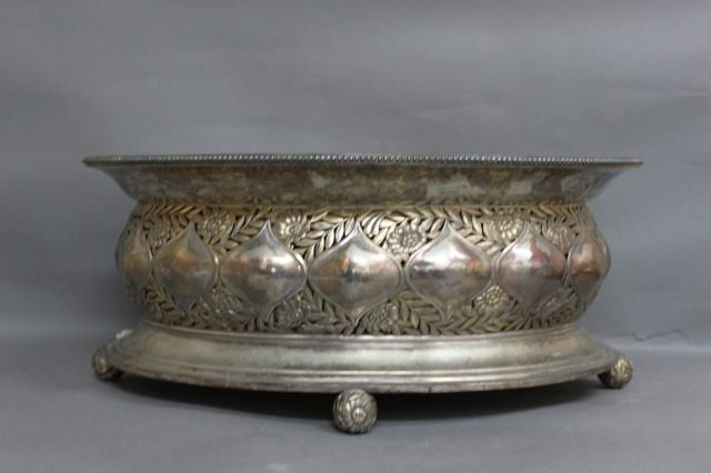 1: Good Large German Silver Centre Piece, c.1900