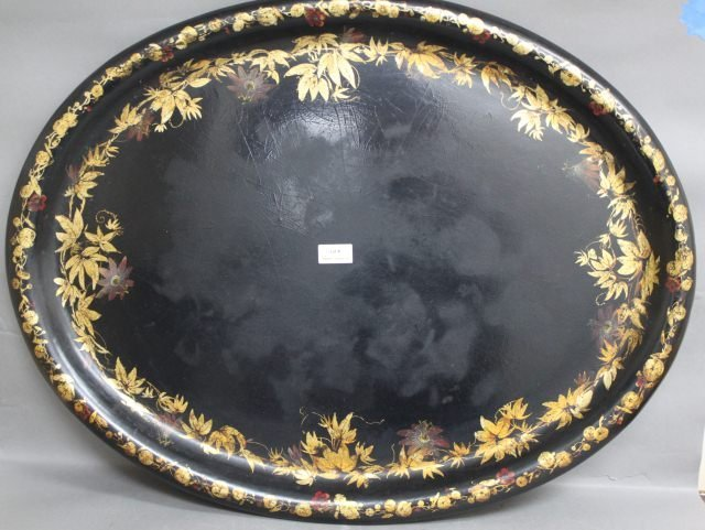 4: Large 19th Century Paper Mache Tray,