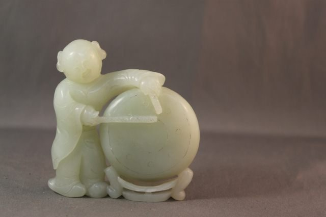 230: Chinese Jade Figure Group,