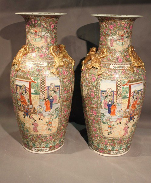 1: Pair Late 19th Century/ Early 20th Century Canton