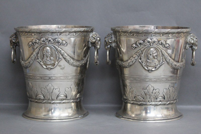 2: Magnificent Pair of German Heavy Silver Twin