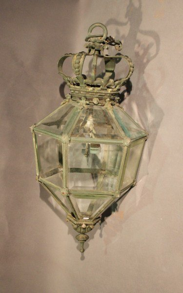 8: French Late 19th Century Bronze Hall Lantern,