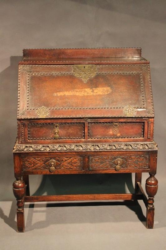 9: 19th Century Spanish Fall Front Bureau on Stand,