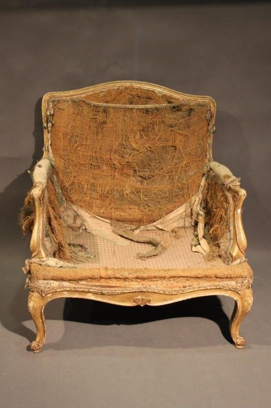 10: 18th Century French Louis XV Fauteuil, - 2