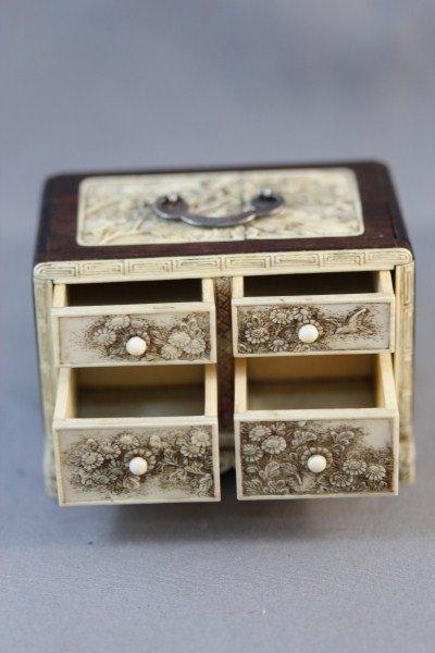 19: Exquisite Chinese Qing Dynasty Ivory and Wood - 5