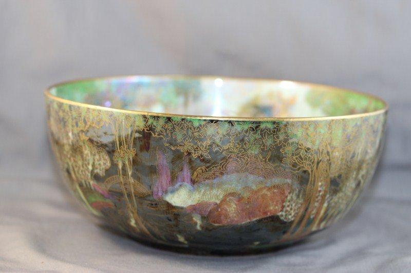9A: Wedgwood Fairyland Lustre Bowl, c 1920, - 3