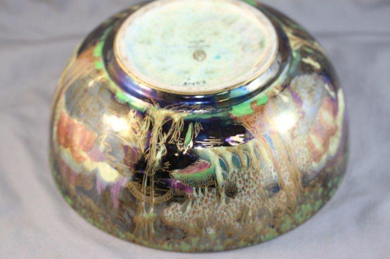9A: Wedgwood Fairyland Lustre Bowl, c 1920, - 4