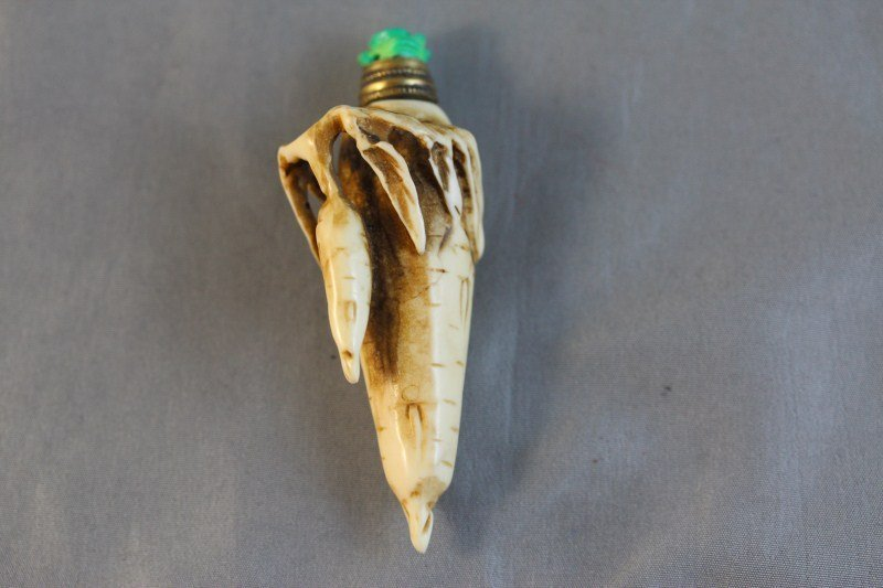 15A: Chinese Ivory Snuff Bottle and Stopper,