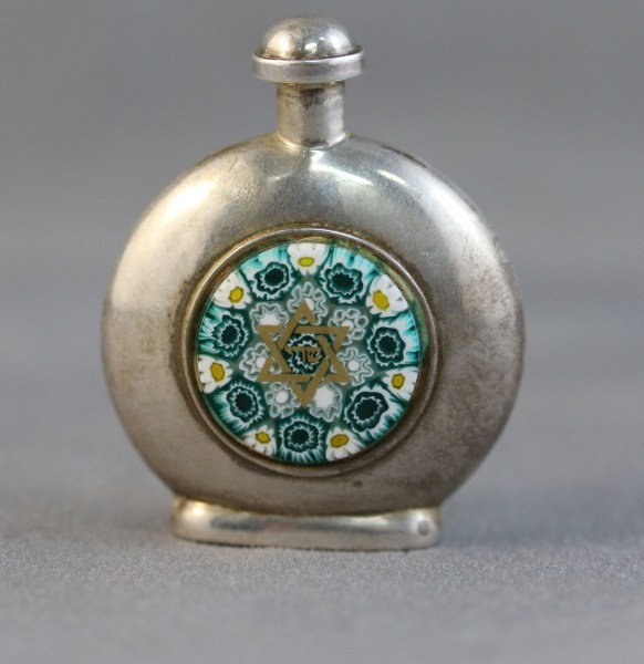20A: Good Silver, Glass Snuff Bottle and Stopper,