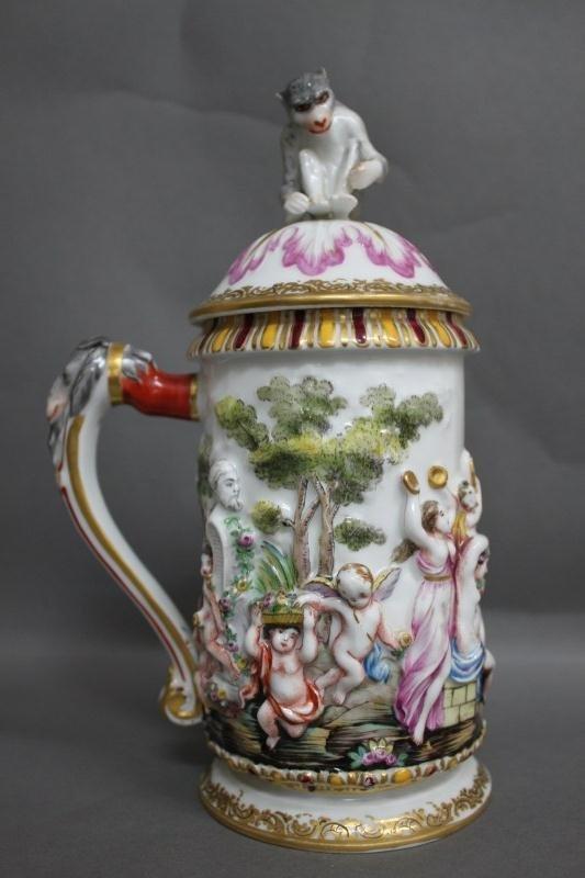 2: Early Capodimonte Porcelain Tankard,
