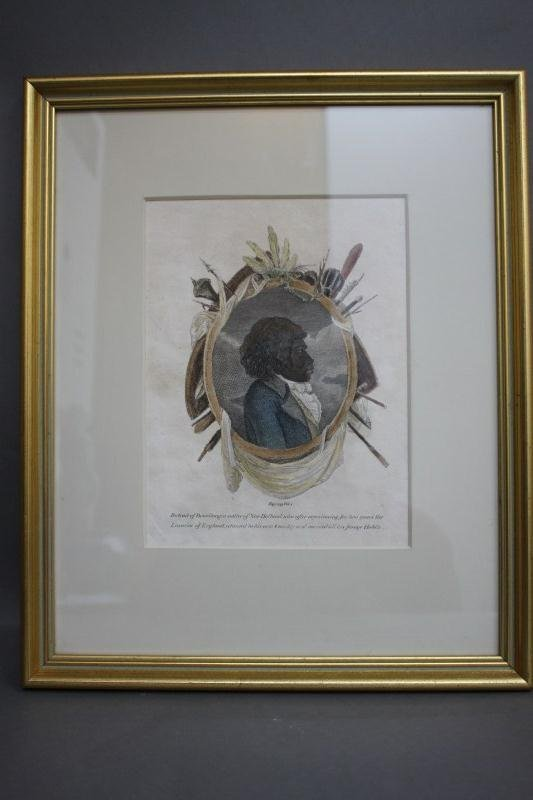 6: 19th Century Bennilong Hand Coloured Etching,