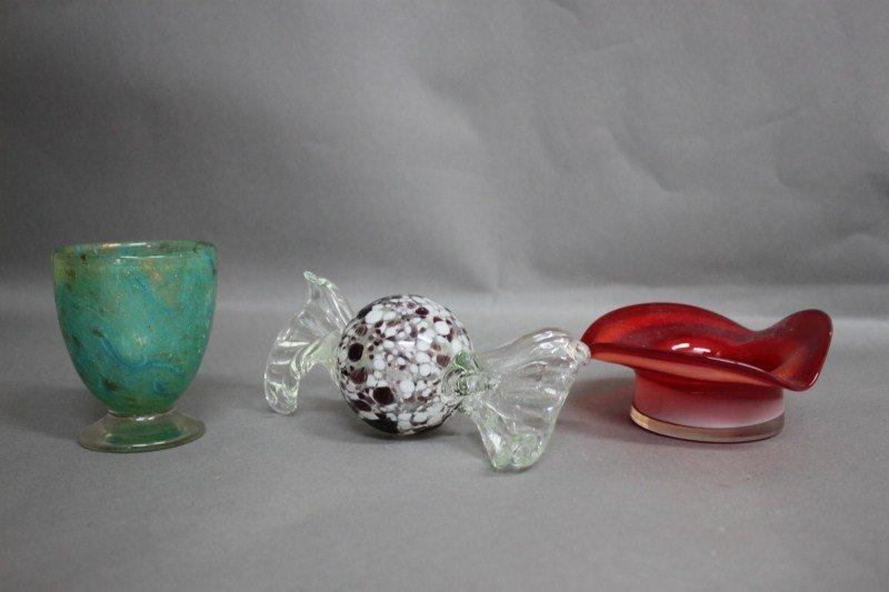 10: Three Pieces of Murano Glass,