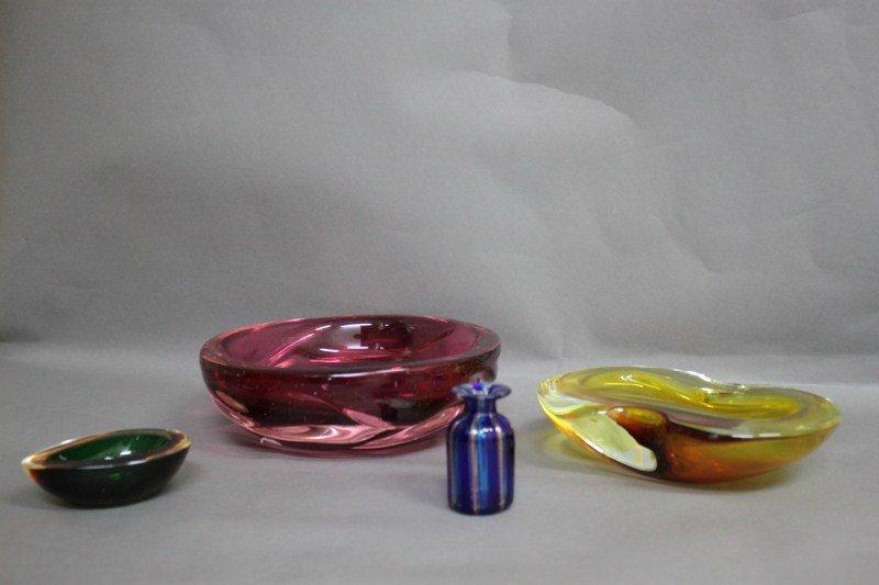 12: Four Pieces of Murano Glass,