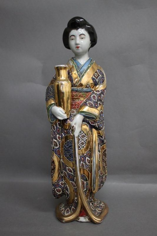 14: Japanese Figural Posy Vase.