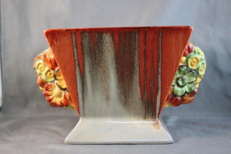 "17: Clarice Cliff ""My Garden, Delica"" Vase and Inset,"