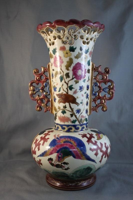 19: Late 19th Century Zoltan Naim Twin Handled Vase,
