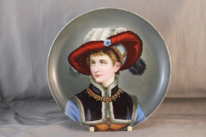 Vienna Porcelain Portrait Plate,