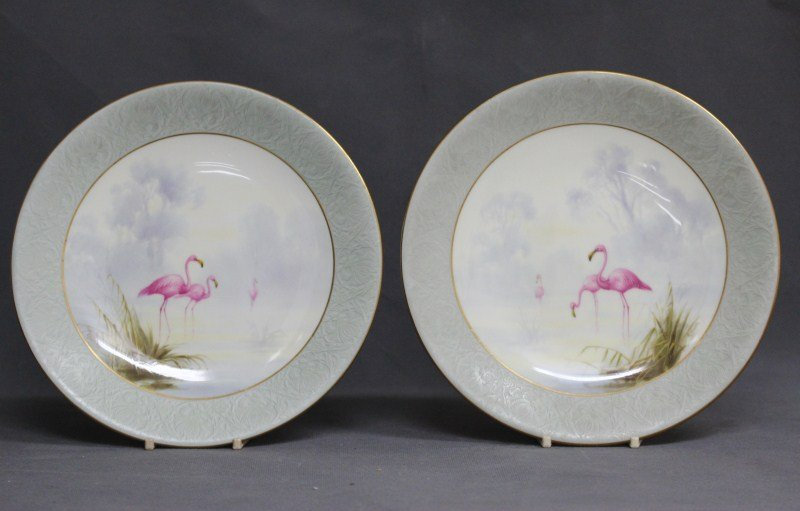 Pair of 19th Century Royal Worcester Cabinet