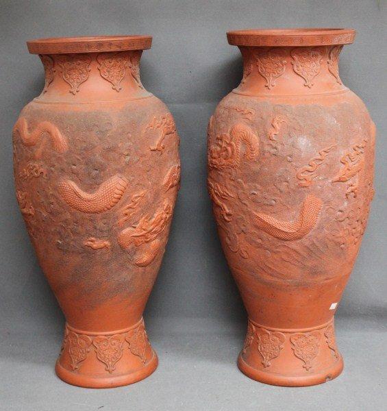 Pair of Chinese Terracotta Vases,