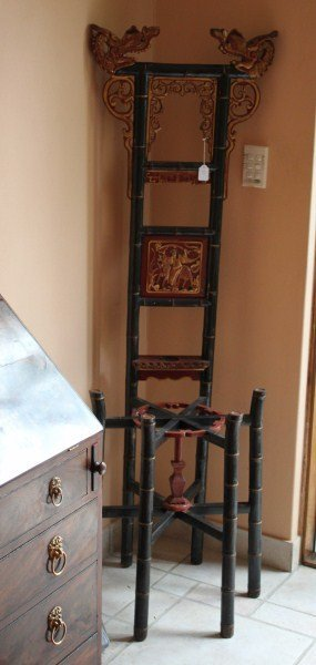 Chinese Lacquer & Gilt Stand,