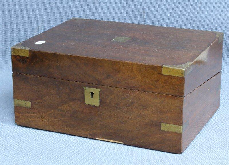 Victorian Mahogany and Brass Writing Box,