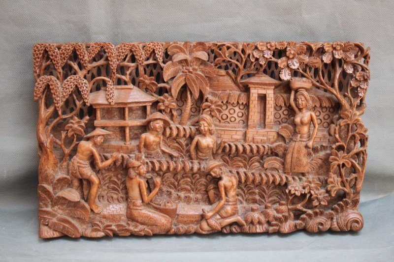 Indonesian Carved Panel,