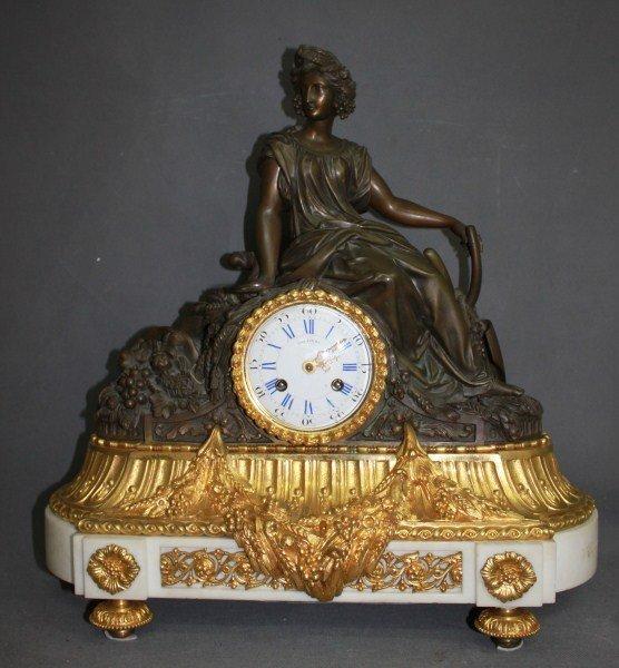 Stunning 19th Century Roblin Paris Ormolu Clock,