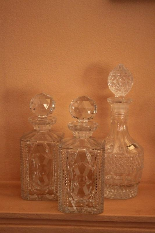Pair of Crystal Decanters and Stoppers,