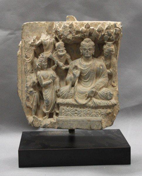 Fine Rare 3rd Century Gandhara Grey Schist Frieze,
