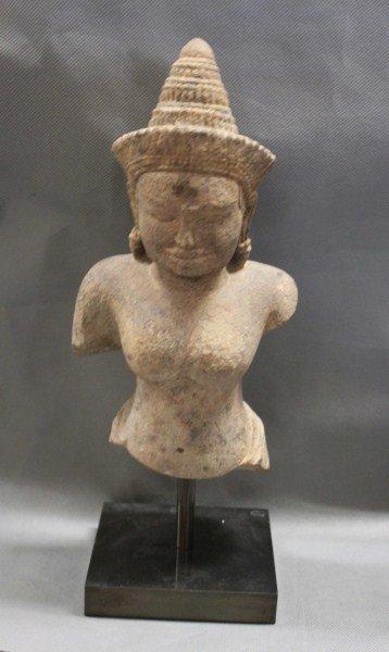 Good Rare 13th Century Cambodian Uma Sandstone