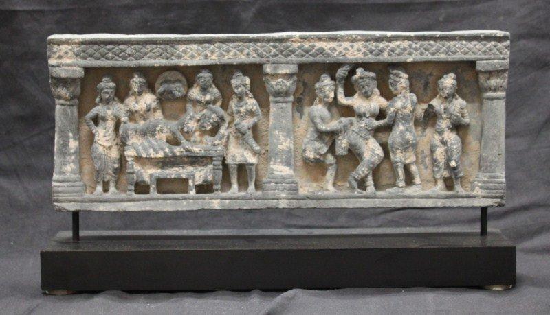 Rare 3rd Century Gandhara Grey Schist Frieze,