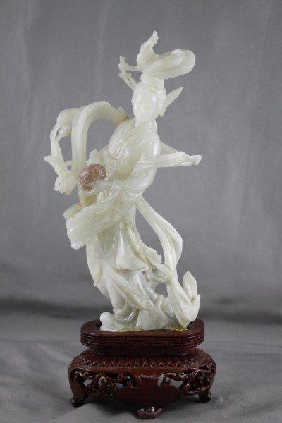 Chinese white Jade Kwan Yin,